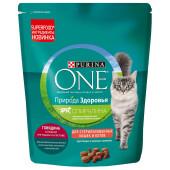 Корм для кошек Purina One 180г для стерилизованных кошек и котов говядина