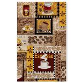 Полотенце из рогожки 50*75 ДомВелл кофейное изобилие 230446