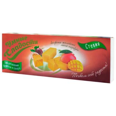 Конфеты Умные сладости со вкусом манго-маракуйя со стевией б/с 90г желейные