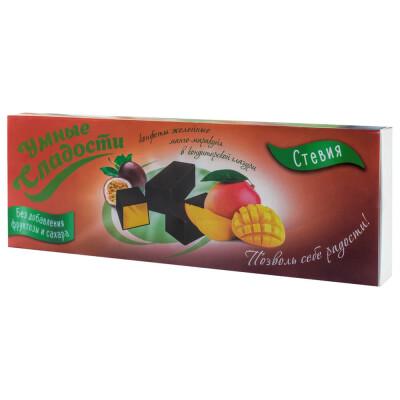 Конфеты Умные сладости со вкусом манго-маракуйя со стевией б/с 105г желейные в глазури