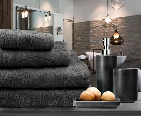 Полотенце Save&Soft махровое серый 100*150 см