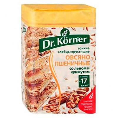 Хлебцы Dr. Korner 100г овсяно пшеничные смесь семян хлебпром