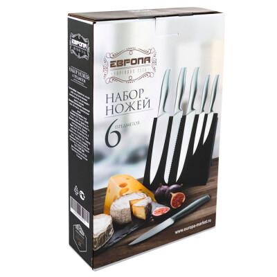 Набор ножей 6пр Европа магнитная подставка msр06-20226
