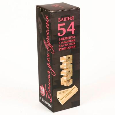 Игра настольная нескучные игры башни с фантами 54детали