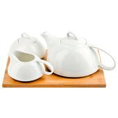 Набор 3пр Nouvelle Home Naturel чайник/молочник/сахарница п/у фарфор 2632001