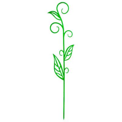Держатель д/орхидеи н60 зеленый флюр с листком техоснастка пи-16-6тх