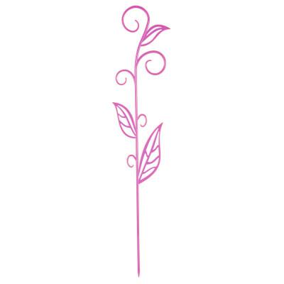Держатель д/орхидеи н60 бордо с листком техоснастка пи-16-1тх