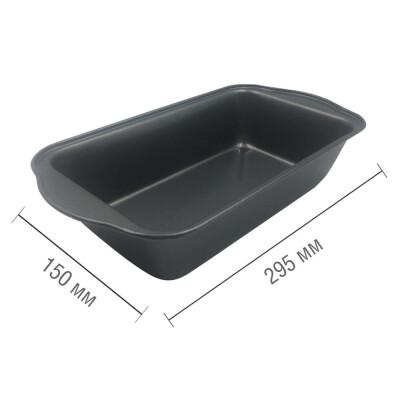 Форма для выпечки 29,5*15*6,5см Unigood прямоугольная антипригарное покрытие темно-серая kb18622m