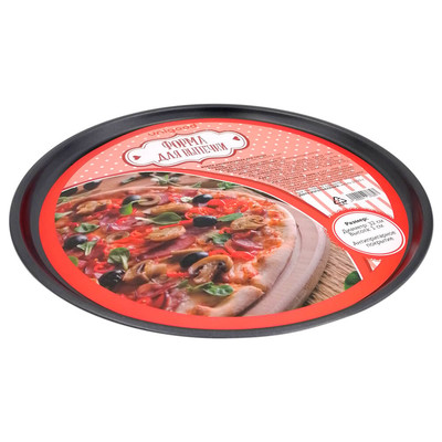 Форма для пиццы 32см Unigood антипригарное покрытие темно-серая kb18545