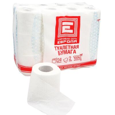 Туалетная бумага Европа 24 шт 2-х слойная
