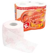 Туалетная бумага европа 4шт 4-х слойная персик