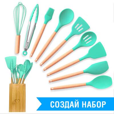 Лопаточка кухонная Unigood силикон 31см бирюзовая