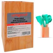Подставка для кухонных принадлежностей Unigood 10*16см светлое дерево ck58889-4
