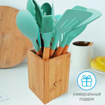 Подставка для кухонных принадлежностей Unigood 10*16см светлое дерево