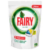 Таблетки для посудомоечных машин Fairy 48шт всё в1 лимон