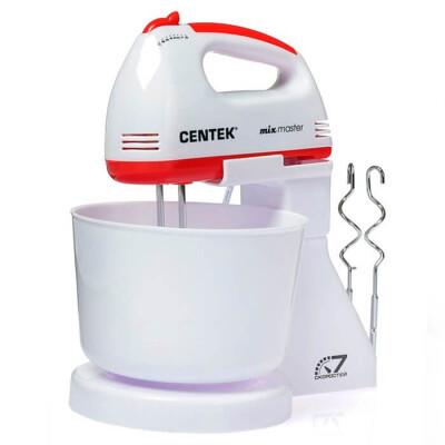 Миксер с чашей Centek CT-1113 белый красный