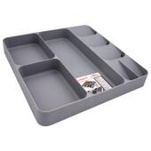 Лоток для хранения кухонных принадлежностей Unigood  39,7*38,4*5,3см серый ea19071