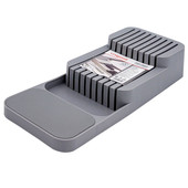 Подставка для ножей Unigood 39,5*13,7*7,3см серая ea19072