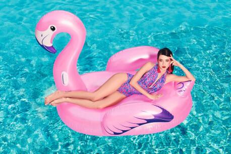 Игрушка для катания верхом Bestway 173*170см для взрослых фламинго 41119