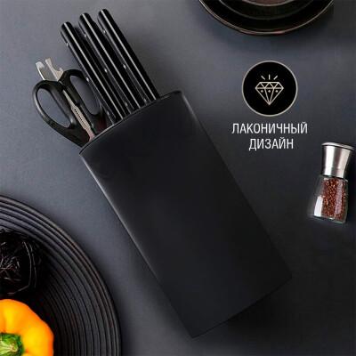 Подставка для ножей 11*21см Европа черная hd-utb010