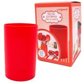 Подставка для кухонных принадлежностей красная Unigood 11,5*21см hd-kub060