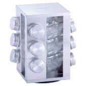 Набор ёмкостей д/специй 12 баночек прямоугольная подставка 7033