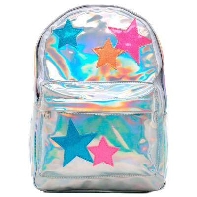 Рюкзак Centrum 1 отделение звезды серебристая голография 33x26x10cм 80615