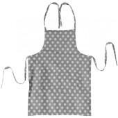 Фартук с карманами ДомВелл рогожка горох серый 254866