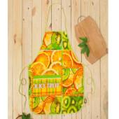 Фартук для кухни ДомВелл вафельный цитрусовый микс 260247
