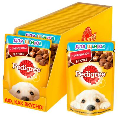 Корм для собак Pedigree 85г для всех пород с говядиной в соусе