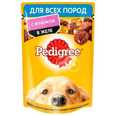 Корм для собак Pedigree 85г для всех пород с ягненком в желе