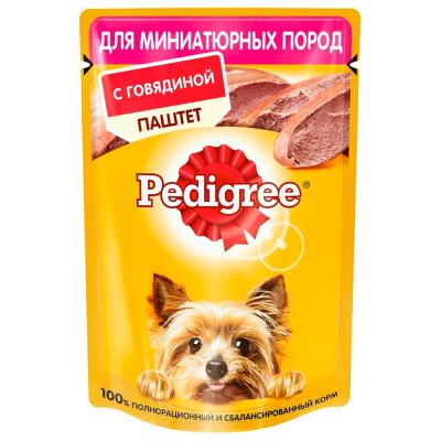 Корм для собак Pedigree 85г для миниатюрных пород с говядиной паштет