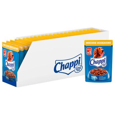 Корм для собак Chappi 85г мясное изобилие
