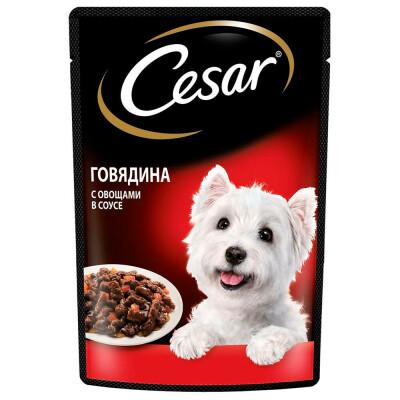 Корм для собак Cesar 85г говядина с овощами в соусе