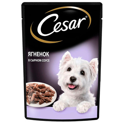 Корм для собак Cesar 85г ягненок в сырном соусе