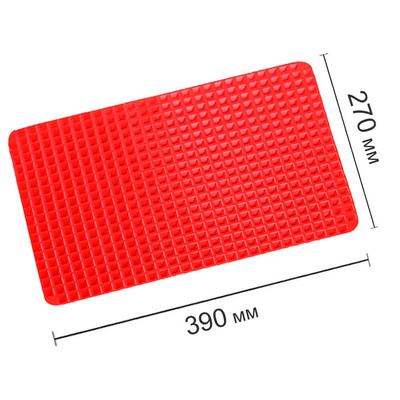 Коврик силиконовый 39*27*1см ТутПросто рельефный красный uslj0507