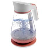 Чайник Energy E-297 стекло бело коралловый