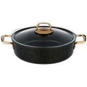 Сотейник 4,3л Agness Premium черное золото антипригарное покрытие индукционное дно 936-217