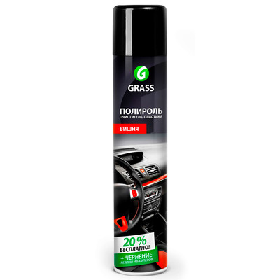 Полироль очиститель пластика Grass вишня 750мл