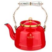 Чайник 2,5 л агнесс тюдор красный складывающаяся ручка индукционное дно 950-236