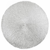 Салфетка сервировочная 38cm серебряная паутина