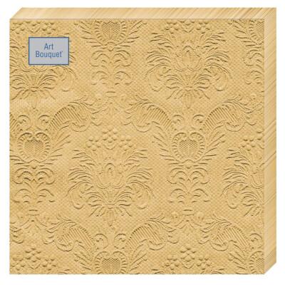 Салфетки Art Bouquet 16шт 33*33см 3 слоя барокко золото
