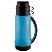Термос 1800л Mallony пратико пластик стеклянная колба 2 чашки 5536