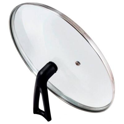Крышка стеклянная 26см Mallony Vetro-Special г-тип бекелитовая ручка 987034