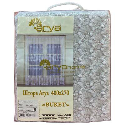 Штора-тюль Ария 400х270 букет белый