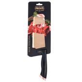 Нож-топорик кухонный Европа черный/розовый титан