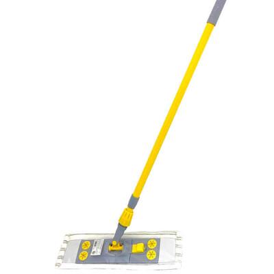 Швабра Absolut Home 140см телескопическая металлическая ручка насадка микрофибра kd-17-f07