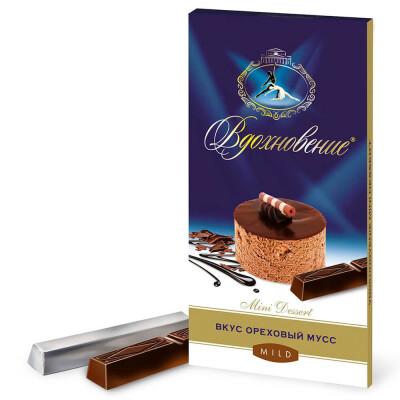 Шоколад вдохновение 100 г мини десерт ореховый мусс бабаевский