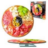 Блюдо сервировочное 28см вращающееся стекло мясное ассорти 105-1319