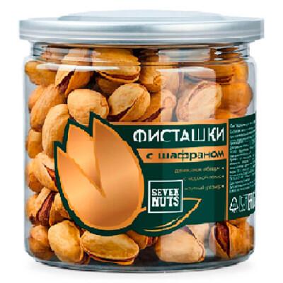 Фисташки Seven Nuts  банка 175г с шафраном жареные